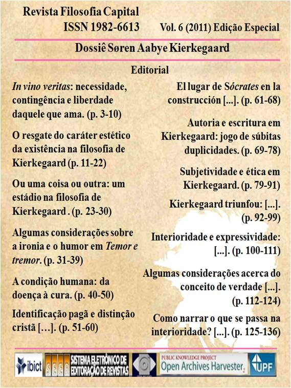 Edição Especial - Dossiê Søren Aabye Kierkegaard